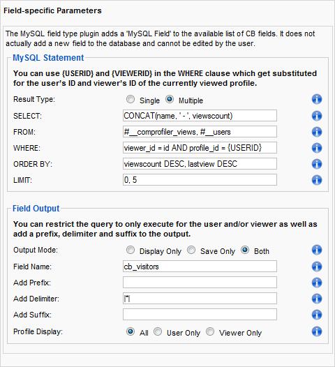 MySQL Field Parameters