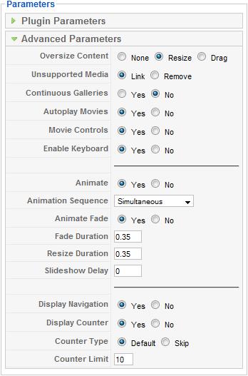 Advanced Parameters